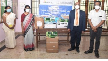 Donation of medical equipments by the American Tamil Sangam and Tami Nadu foundation - 07.06.2021