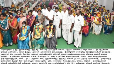 The Hon'ble Backward Classes Welfare Minister inaugurated a community baby shower for 250 pregnant mothers at a function held on behalf of the Integrated Child Development Program in the Kunnam area and gave welfare assistance-18.09.2021.