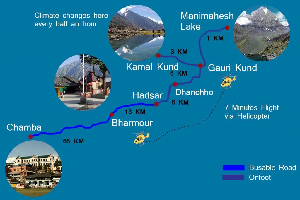 Manimahesh Yatra Map-en