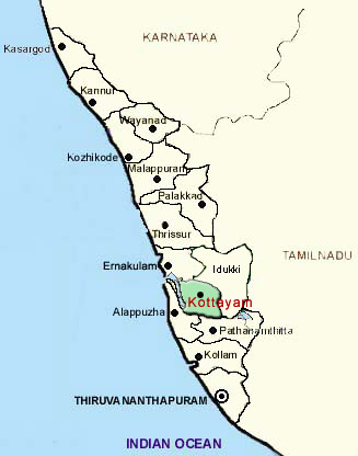 District Map of Kottayam