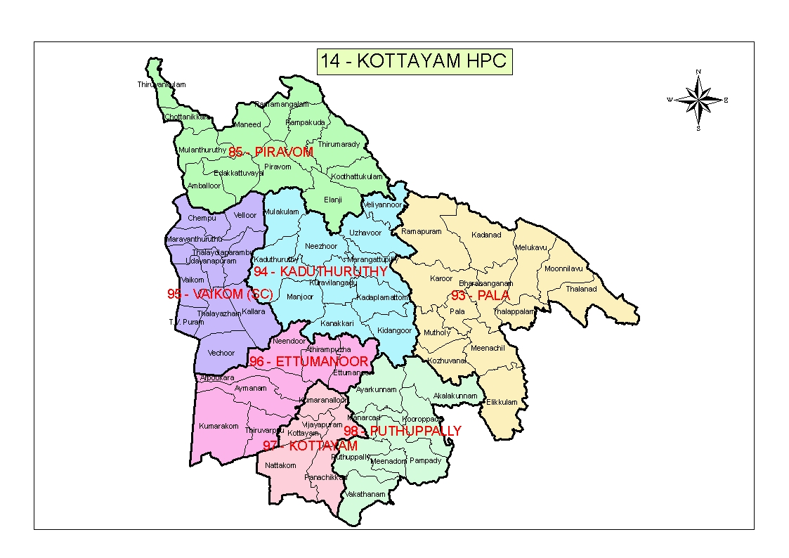 Map of kottayam HPC