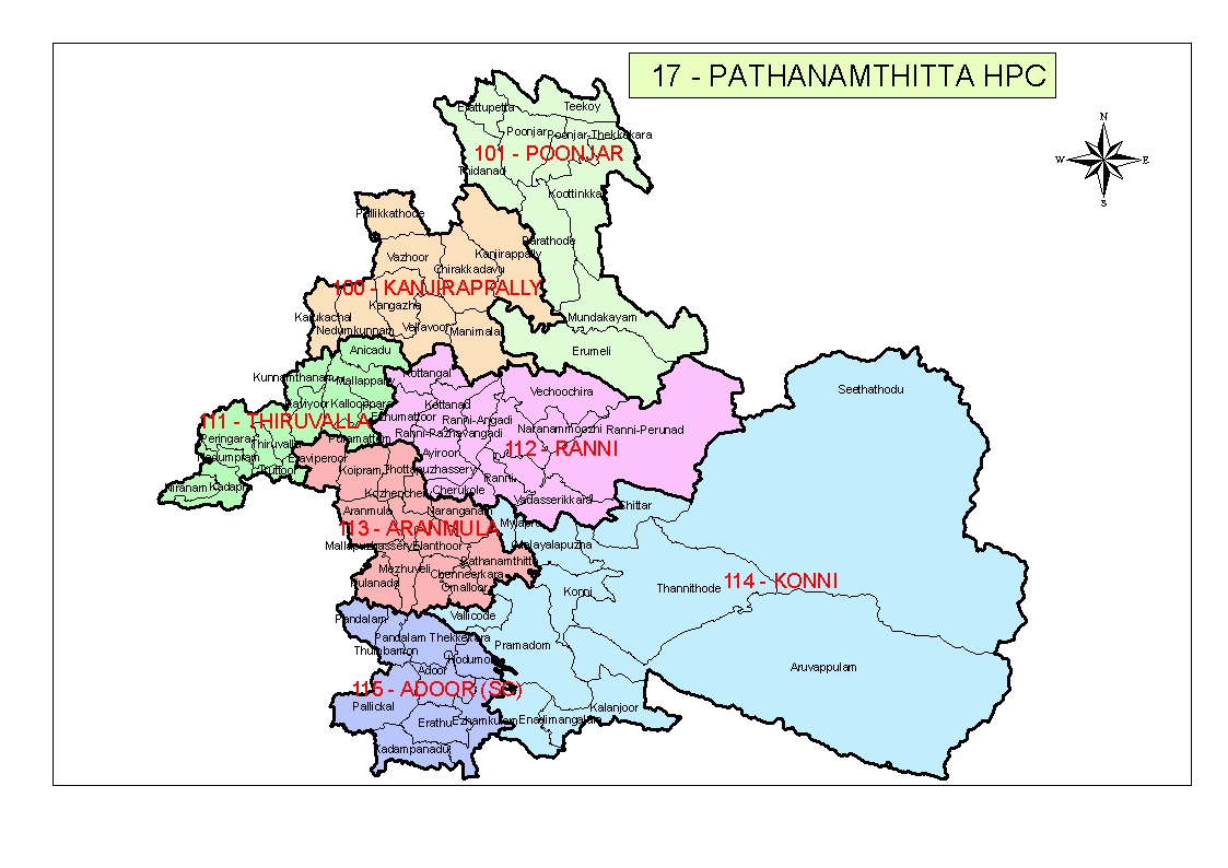 Map of Pathanamthitta HPC
