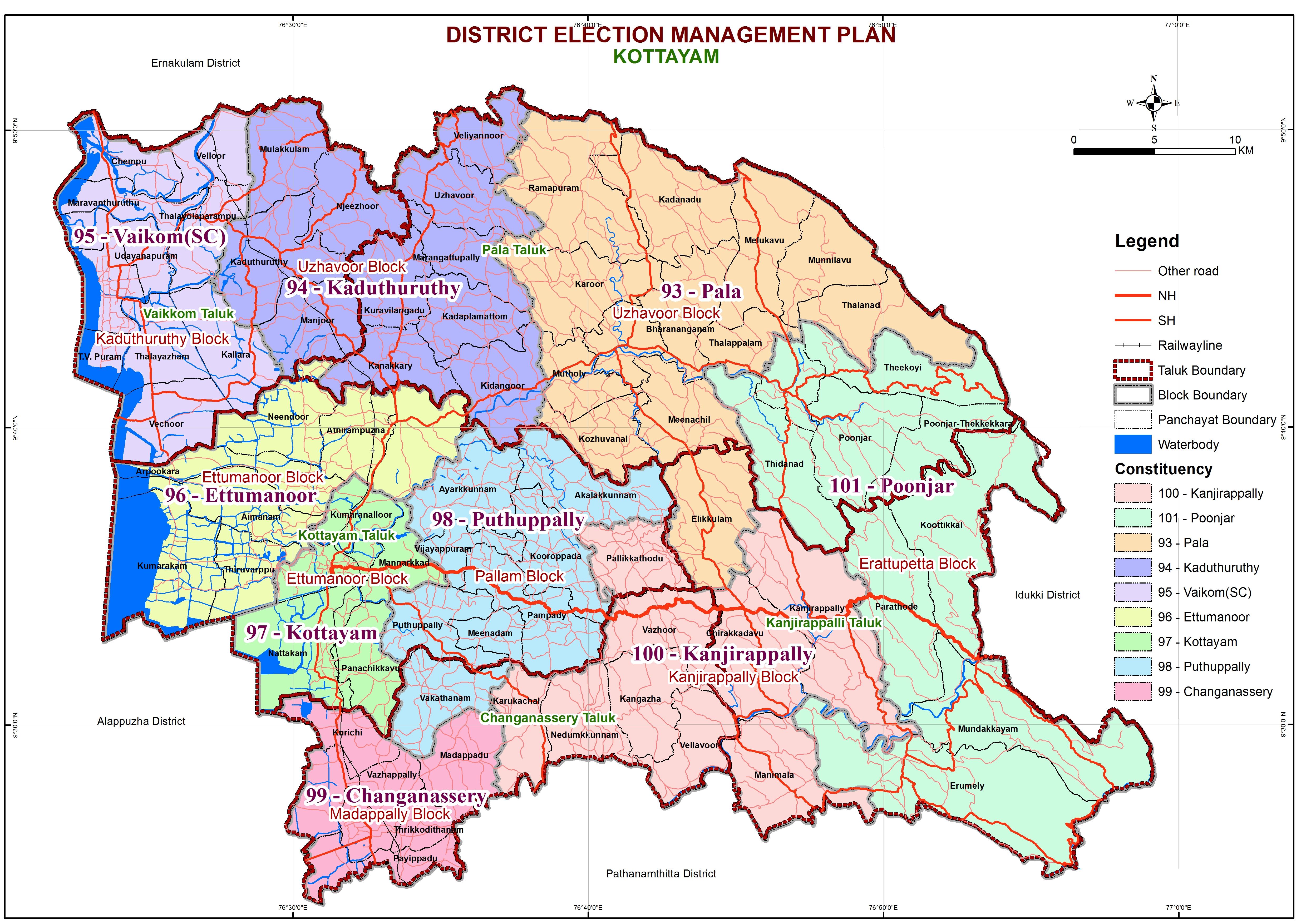 Kottayam LAC Map