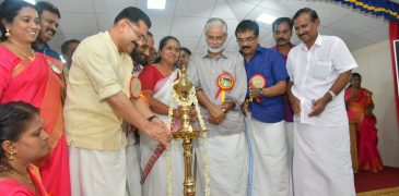 Sri K T Jaleel Hon. Minister for Local self governing department inagurates the cultural center in memory of Sri N N Pillai
