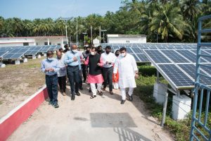 Alt Visit to Solar Plant at Andrott