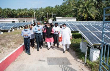 Alt Visit to Solar Plant at Andrott