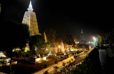 Mahabodhi Temple Lighting View
