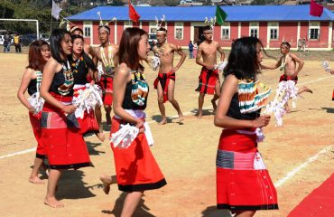 A cultural dance of Tangkhul Naga