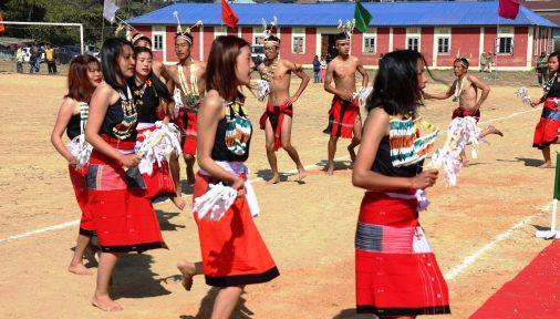 A cultural dance of Tangkhul Naga