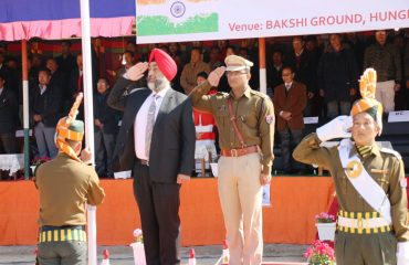 Salute given by DC and SP Ukhrul