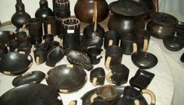 Different shapes of potteries