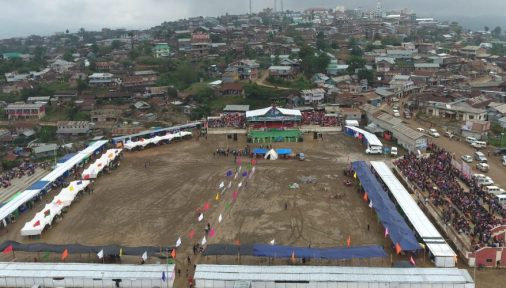 An Ariel view of one the Venue of Bakshi Ground