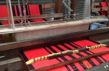 Changkhom-Cloth in loom