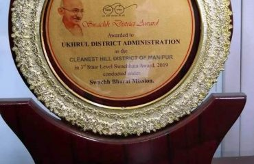 Medal for the cleanest Hill District of Manipur