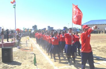 Student contingents at 71st Republic day
