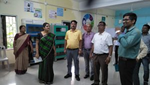 School visit by collector at Padmapur and Bahugram of Salipur block and initiation of Mission Zero F