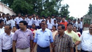 Collector's visit to different school of Banki sub-division for Mission Zero F