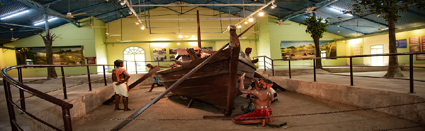 A Inner view of Odisha State Maritime Museum.