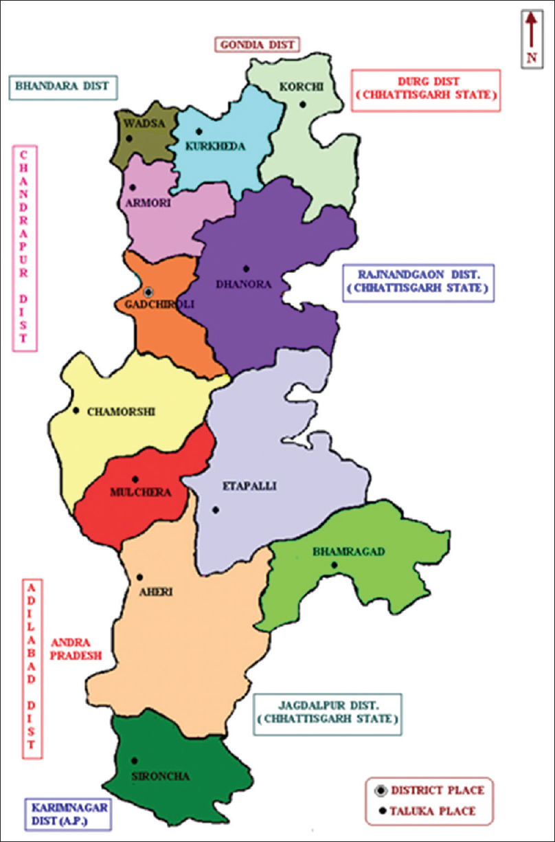 Gadchiroli District Map
