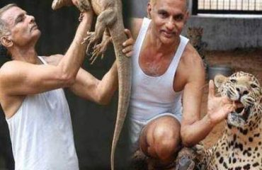 Dr. Prakash Amte with Animals in a Zoo at LBP