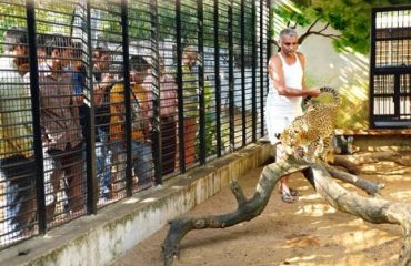 Dr. Prakash Amte with Animals