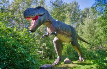 वडधम जीवाश्म पार्क मधील डायनासोरची कलाकृती