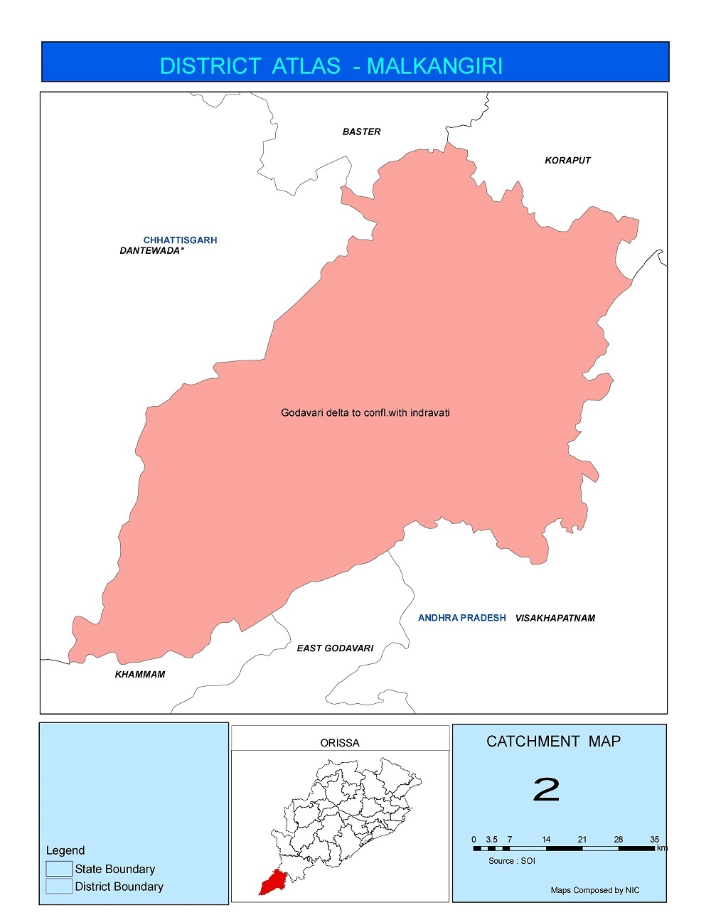 Catchment Map of Malkangiri