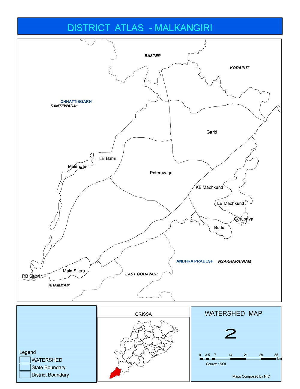 Watershed Map of Malkangiri