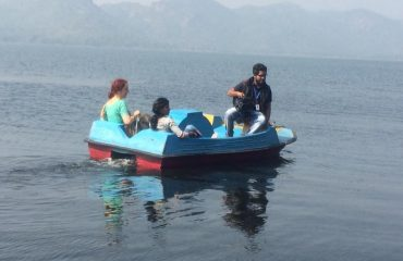 Tourist enjoying Boating at Satiguda Dam