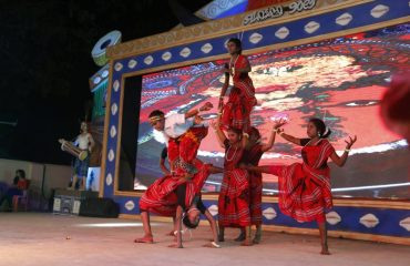 Group of girls performing Traditional Dance During Malyabanta-2017