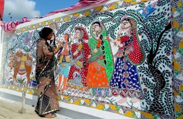 View of Mithila Painting