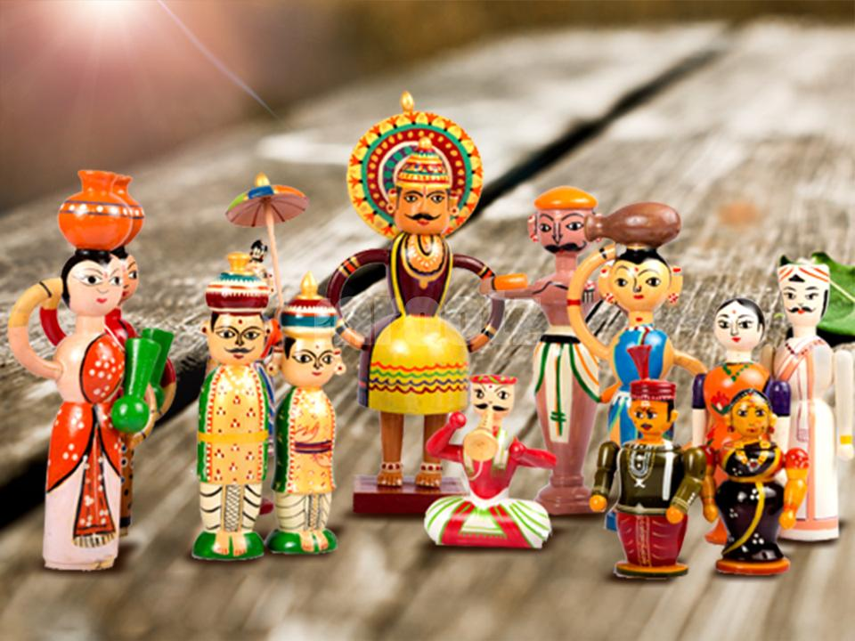 Channapatna colourful wooden toys