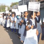 Students in the Awareness Rally