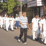 Resident Deputy Collector with Nursing Students in Awareness Rally
