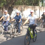 District Election Officer, Chief Executive Officer, Superintendent of Police and Nodal Officer SVEEP in Bicycle Rally