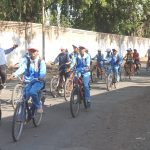 Students in Bicycle Rally