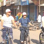 District Election Officer, Chief Executive Officer and Superintendent of Police in Bicycle Rally