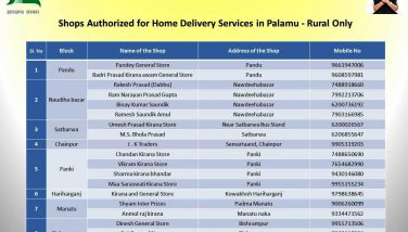 Shops Authorised for Home Delivery Services (Rural Area)