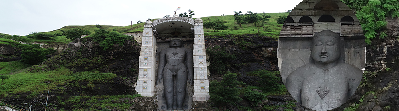 Bawangaja: A 52 Gaj long statue of Rishabh Dev, A Tirthankar of Jain religion