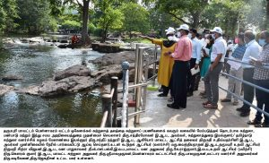 The Principal Secretary, Department of Tourism, Culture and Hindu Religious and cultural Affairs and the Managing Director, Tamil Nadu Tourism Development Corporation visited and inspected the development of the Hogenakkal tourist Places