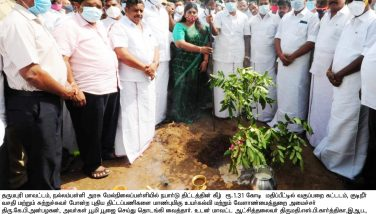 Honorable Higher Education Minister Boomi Pooja Function