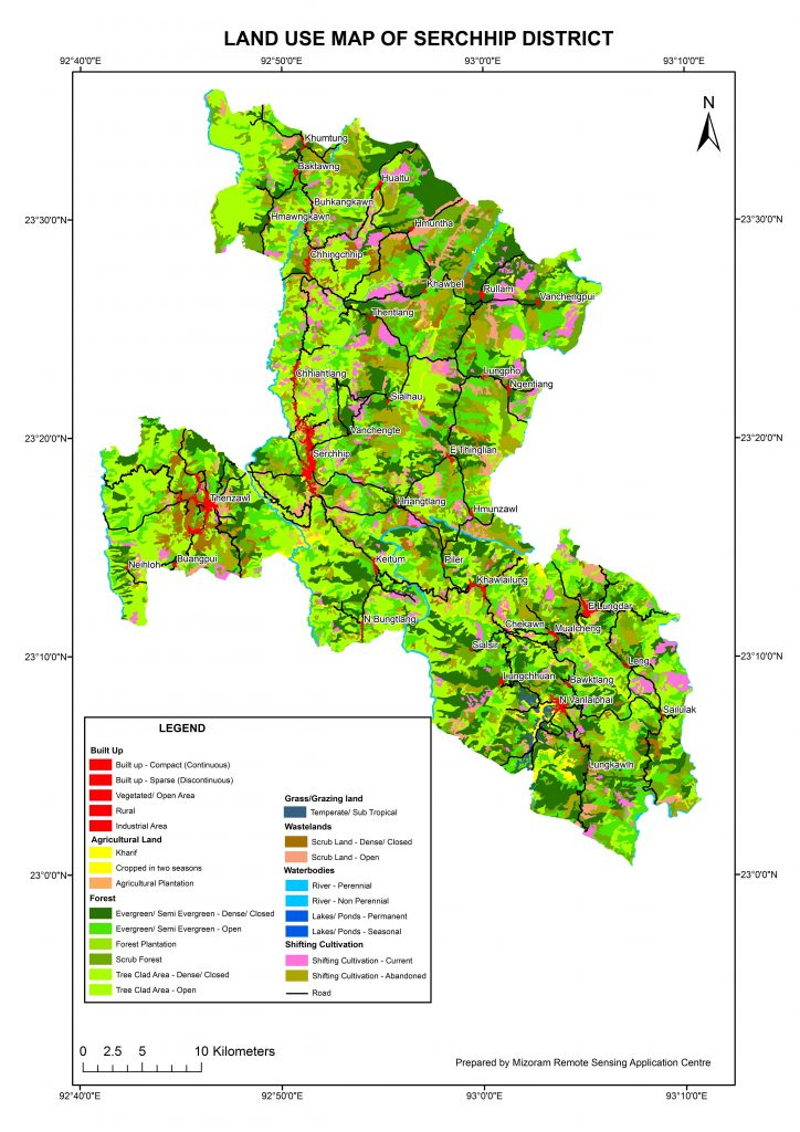 Landuse Map of Serchhip District