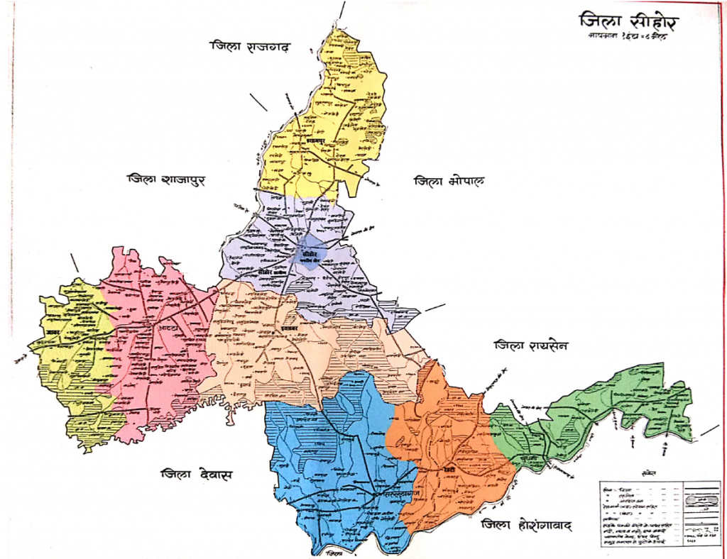 Sehore District Map