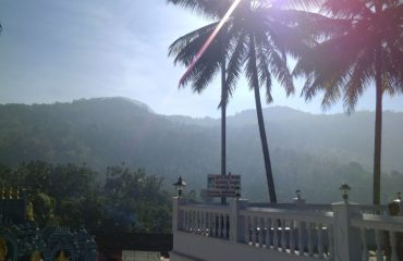 View of the hills at horanadu Temple
