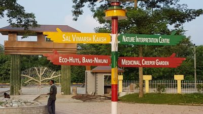 Direction Indicator at Bio Diversity Park Kusiargaon
