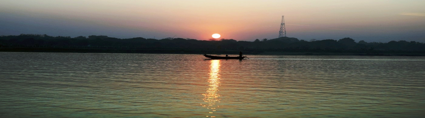 Sunset at Ganga, Rajmahal