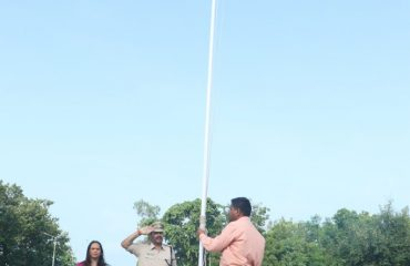 Flag Hoisting at Collectorate Office