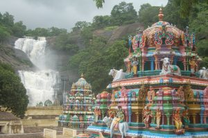 Courtallam temple side view