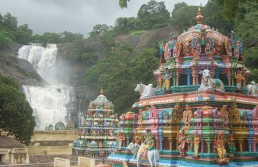 Courtalam Temple Five Falls view