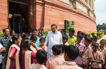 NCLP Tirunelveli  STC Children interaction with  Honrable Vice President of India